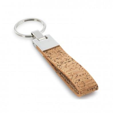 Schlüsselanhänger Kork, Braun