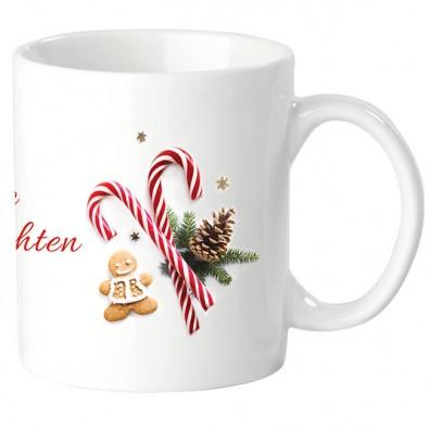 Fototasse mit Weihnachtsmotiv Frohe Weihnachten