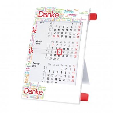 Tisch-Drehkalender Rot