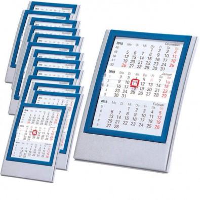 Werbe-Set 2-Jahres-Kalender Small, 50 tlg. Silber/Blau