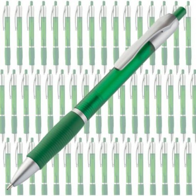 Werbe-Set: 600 Kugelschreiber Trinidad, Grün/Silber