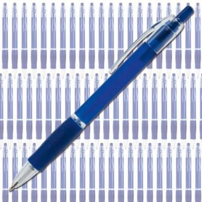 Werbe-Set: 400 Kugelschreiber Atlantis Streuartikel, Blau/Frosted