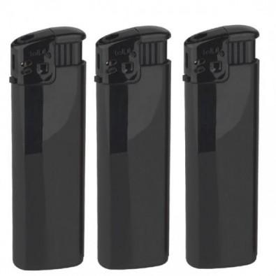 Werbe-Set: 500 Piezo-Feuerzeuge mit Bedruckung, Schwarz