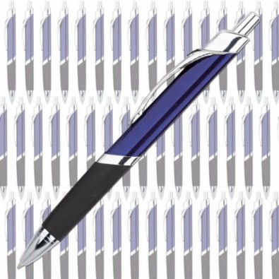 Werbe-Set:100 Metall-Kugelschreiber Triangle Blau