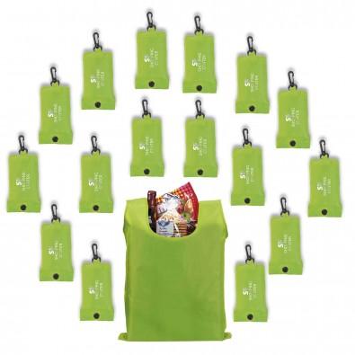 Werbe-Sparset faltbare Einkaufstasche 100tlg, Apfelgrün