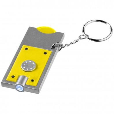 Allegro Schlüssellicht mit Münzhalter, gelb