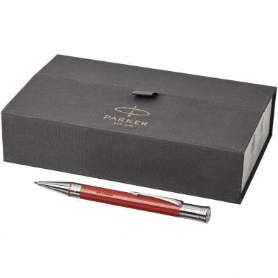 Duofold Premium Kugelschreiber, rot,silber