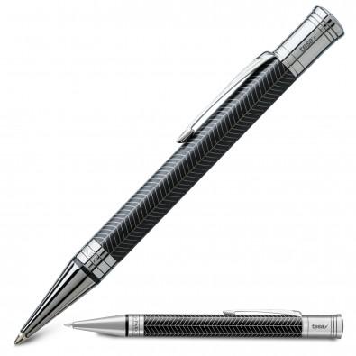 Duofold Premium Kugelschreiber, schwarz,silber