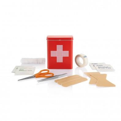 Erste Hilfe Metallbox, rot