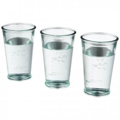 Ford 3 teiliges Recyclingglas Set, transparent klar
