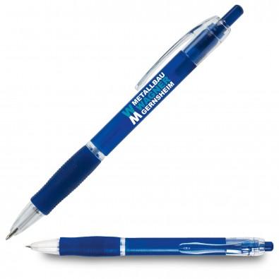 Kugelschreiber Atlantis, Blau/Frosted