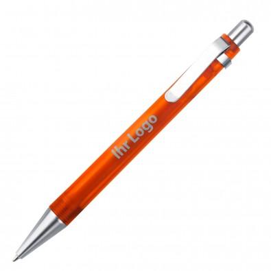 Kugelschreiber Quebec, Orange/Frosted