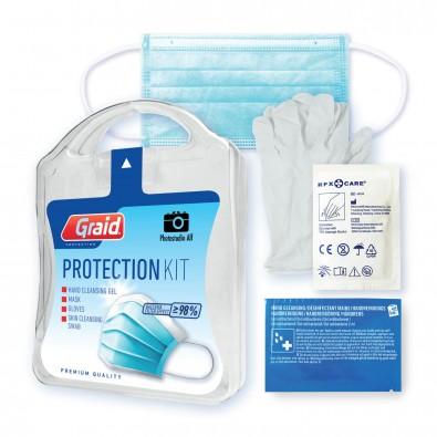MyKit Protection Kit mit Gel, 6-tlg. mit individuellem Etikett auf der Vorderseite