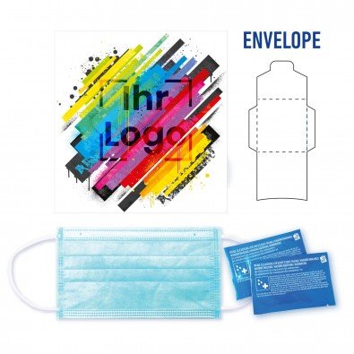 Protection Umschlag mit Gel, 3-tlg. mit individuellem Etikett auf der Vorderseite