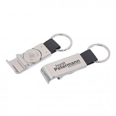 Schlüsselanhänger Chip  öffner, Silber