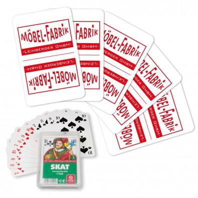 Skat-Spiel, inkl. Druck auf Rückseite, 1-farbig
