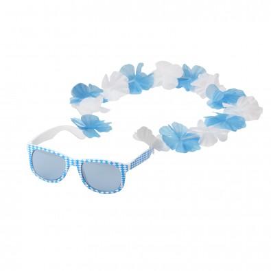 Spaßbrille Bavaria blau, Weiß/Blau
