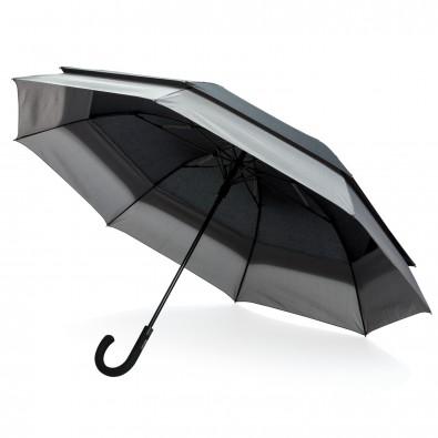 Swiss Peak 23'' zu 27'' erweiterbarer Regenschirm, schwarz