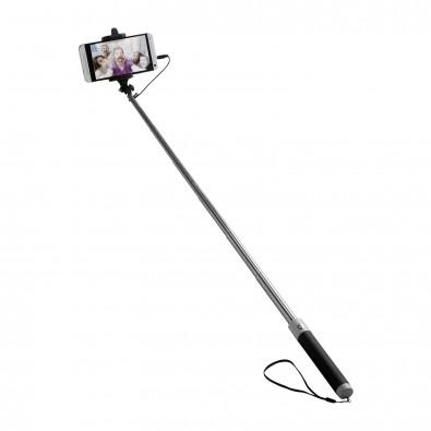 Teleskop-Kamerahalter mit Auslöser REFLECTS-DUBBO, schwarz/weiß