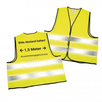 """Warnweste """"Abstand halten"""", neon-gelb"""