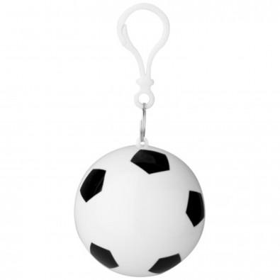 Xina Fußball Regenponcho, weiß,schwarz