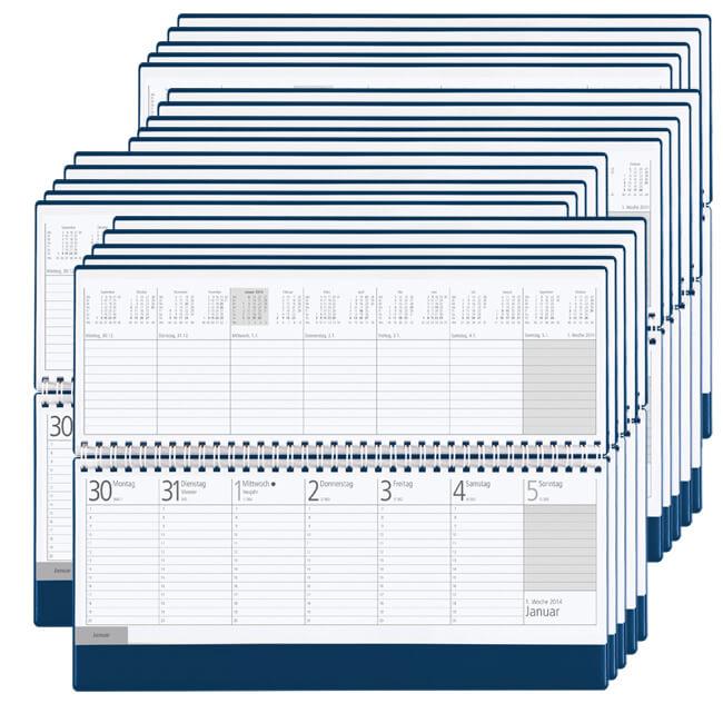 3 Monats Tischkalender Metall günstig bedrucken lassen