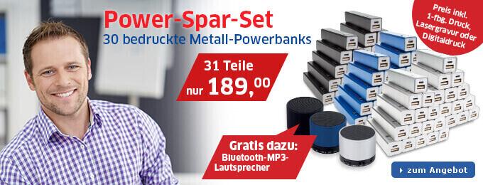 Powerbank-Sparset